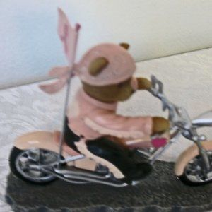 """The Hamilton Collection Motorcycle Figurine """"Headed for a cure collection."""""""